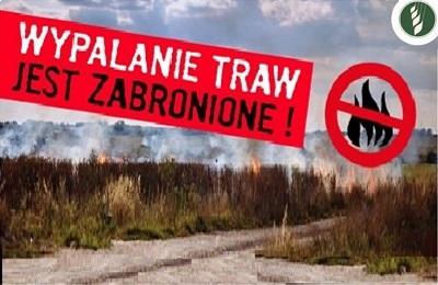 Wypalanie traw jest zabronione!